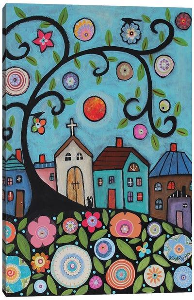 Church Cat Canvas Art Print
