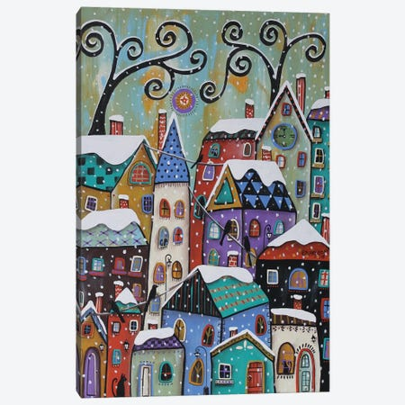 CitySnowfall Canvas Print #KAG69} by Karla Gerard Canvas Art