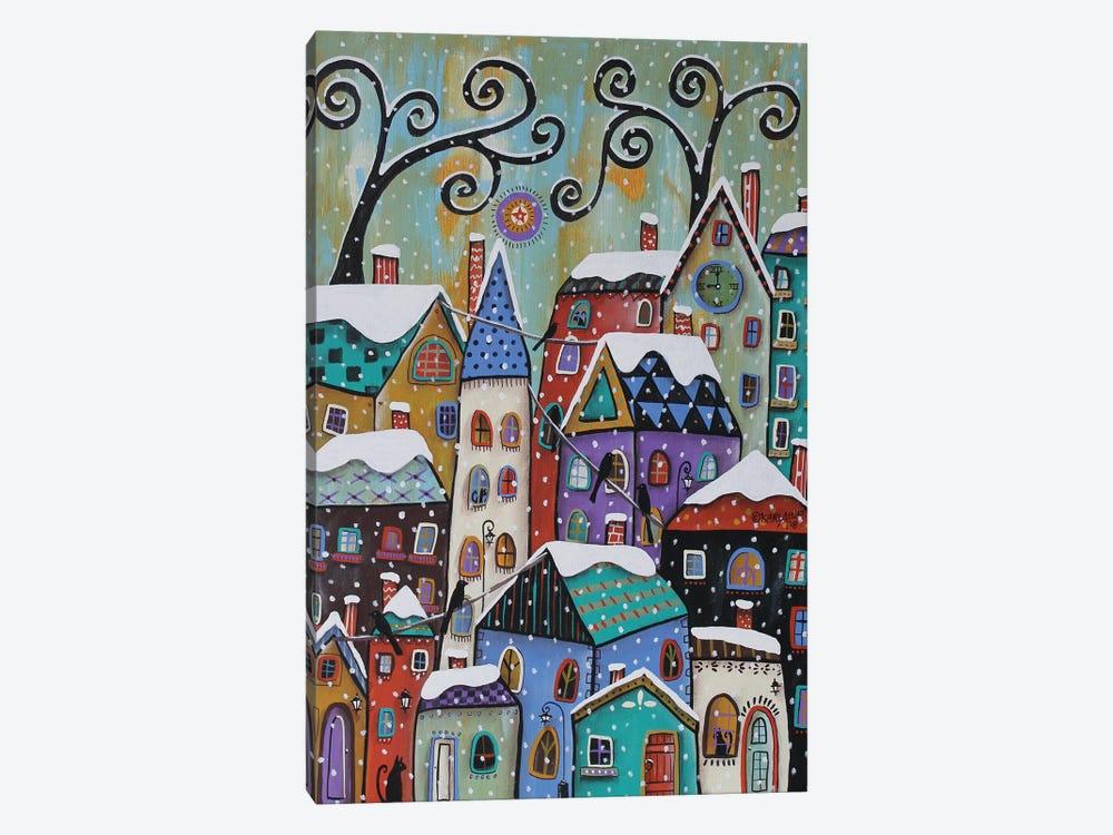 CitySnowfall by Karla Gerard 1-piece Canvas Artwork