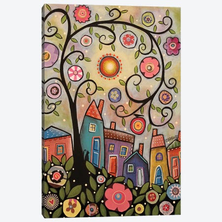 Collage Tree Village Canvas Print #KAG71} by Karla Gerard Canvas Print