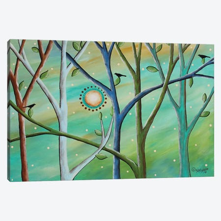Colored Trees Canvas Print #KAG72} by Karla Gerard Canvas Art Print
