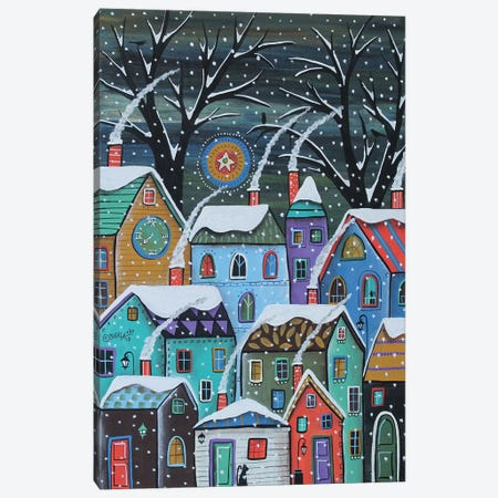 Colorful Winter City Canvas Print #KAG74} by Karla Gerard Canvas Art