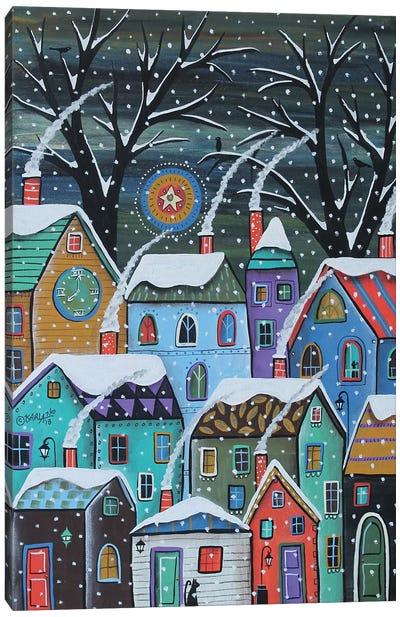 Colorful Winter City Canvas Art Print