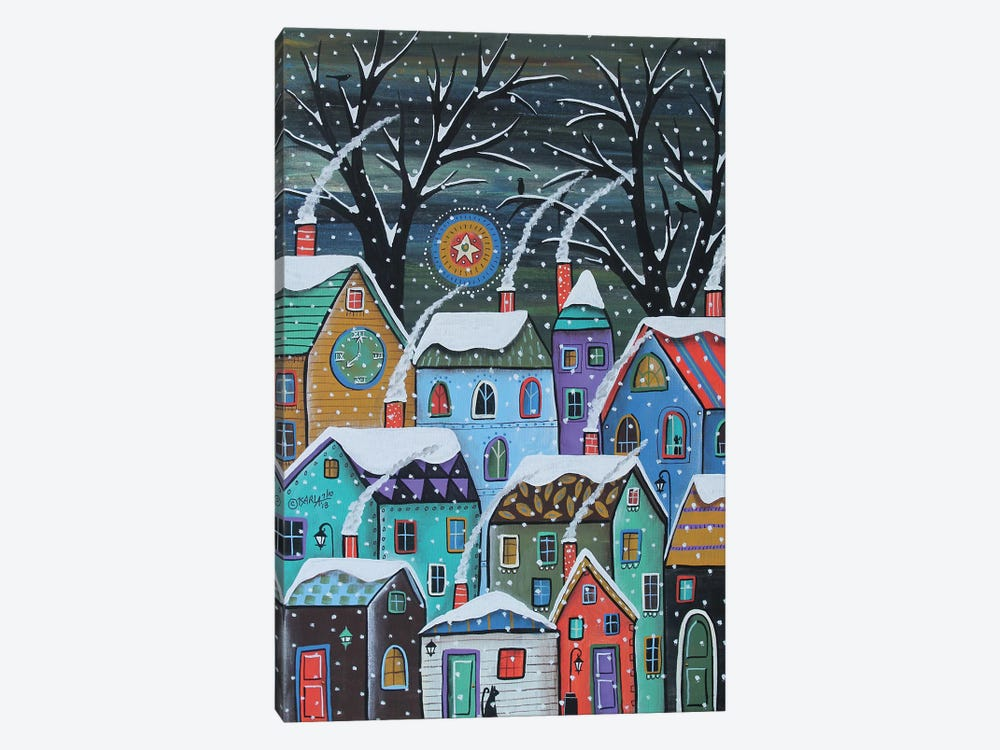 Colorful Winter City by Karla Gerard 1-piece Canvas Wall Art