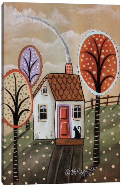 Cottage Cat II Canvas Art Print