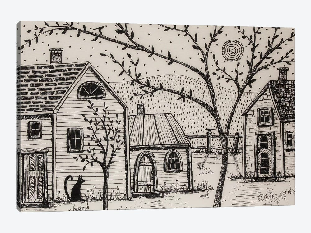 Country Cottages by Karla Gerard 1-piece Canvas Wall Art