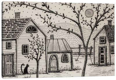 Country Cottages Canvas Art Print