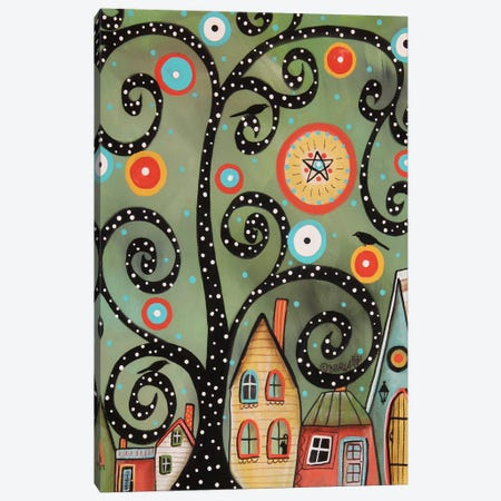 Dotted Swirl Tree I 3-Piece Canvas #KAG97} by Karla Gerard Canvas Wall Art