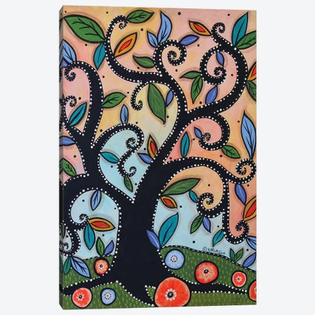 Dotted Tree Canvas Print #KAG98} by Karla Gerard Canvas Art Print