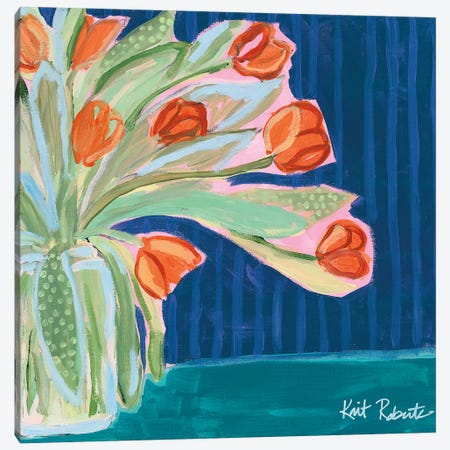 Tulips for Maxine II Canvas Print #KAI109} by Kait Roberts Art Print