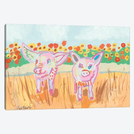 Two Little Piggies Canvas Print #KAI110} by Kait Roberts Canvas Art