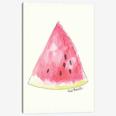 W is for Watermelon Canvas Print #KAI111} by Kait Roberts Canvas Art