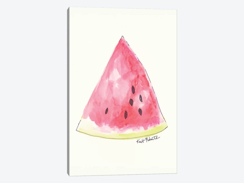 W is for Watermelon by Kait Roberts 1-piece Canvas Artwork