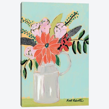 Bouquet on Robin's Egg   Canvas Print #KAI117} by Kait Roberts Art Print
