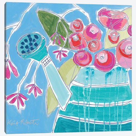 Lucky Jade Watering Can    Canvas Print #KAI123} by Kait Roberts Canvas Print