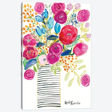 Blissful Blooms Canvas Print #KAI124} by Kait Roberts Canvas Wall Art