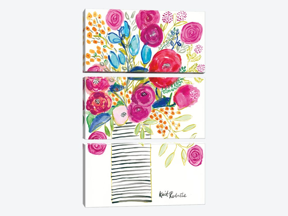 Blissful Blooms by Kait Roberts 3-piece Canvas Artwork