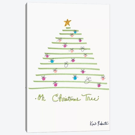 Oh Christmas Tree Canvas Print #KAI142} by Kait Roberts Canvas Print