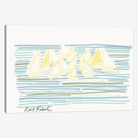 Sunday at Sea Canvas Print #KAI145} by Kait Roberts Canvas Wall Art