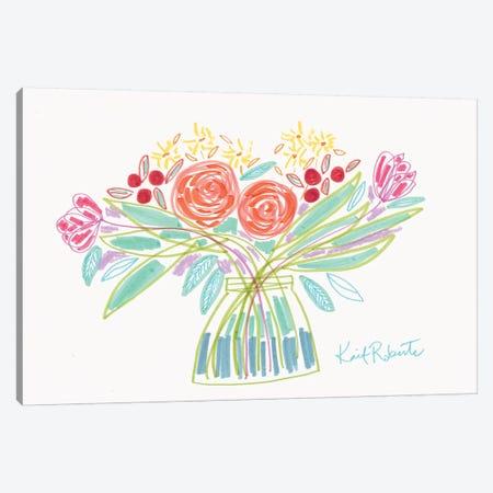 February Bouquet Canvas Print #KAI158} by Kait Roberts Canvas Art