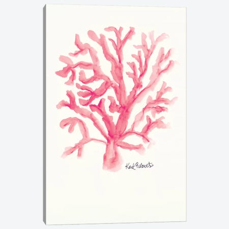 C is for Coral Canvas Print #KAI15} by Kait Roberts Canvas Wall Art