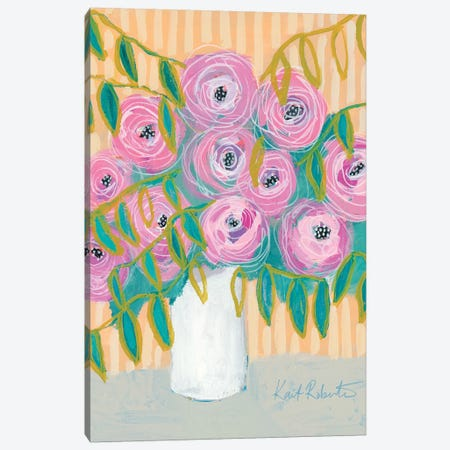 Maxine's Best Blooms  Canvas Print #KAI167} by Kait Roberts Canvas Art
