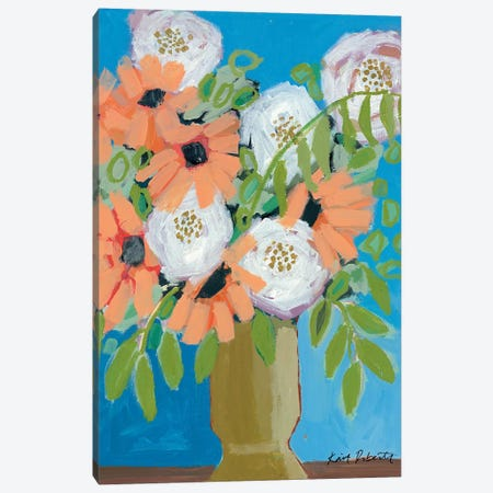Peach Fever Canvas Print #KAI171} by Kait Roberts Canvas Wall Art