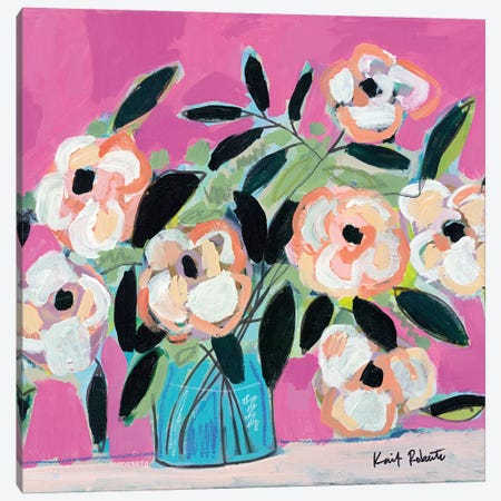 Pink Fever Canvas Print #KAI172} by Kait Roberts Canvas Artwork