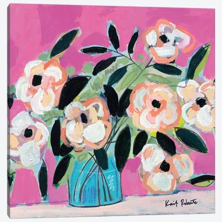 Pink Fever Canvas Print #KAI172} by Kait Roberts Canvas Artwork