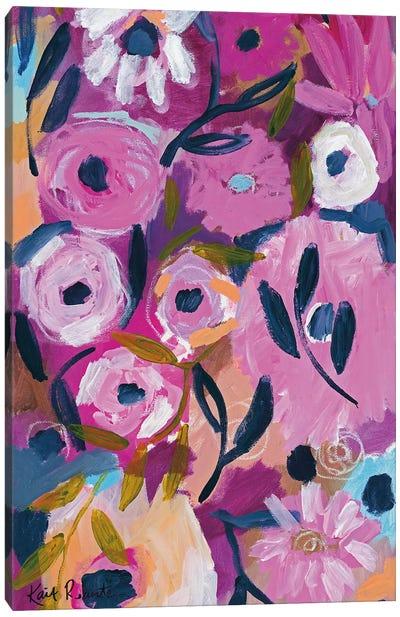 Midnight Blooms Canvas Art Print