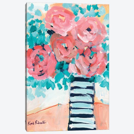 Fancy And Floral Canvas Print #KAI200} by Kait Roberts Canvas Art
