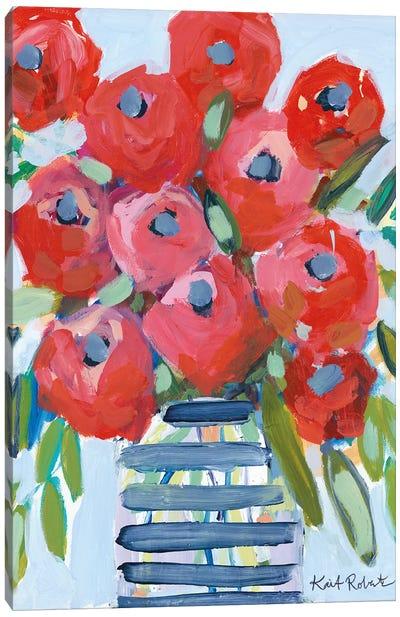 April Showers Give Me Flowers Canvas Art Print