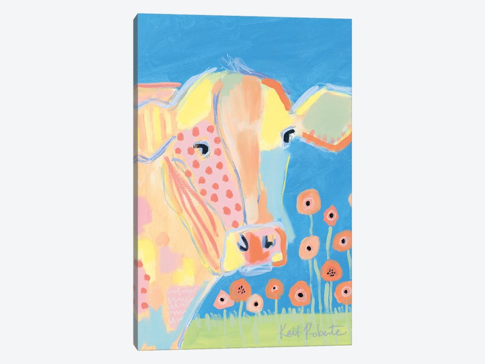 Kirby in the Field by Kait Roberts 1-piece Canvas Art Print