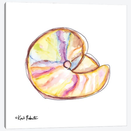 Shell Yes! Canvas Print #KAI233} by Kait Roberts Art Print