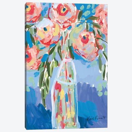 Watermelon Blooms Canvas Print #KAI236} by Kait Roberts Canvas Art