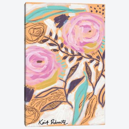 Bubblegum Blooms Canvas Print #KAI243} by Kait Roberts Canvas Art