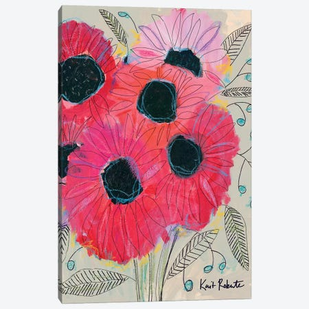 Electric Sunflowers Canvas Print #KAI24} by Kait Roberts Canvas Print