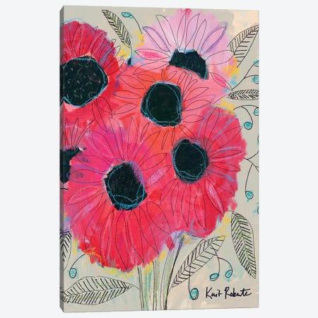 Electric Sunflowers Canvas Print #KAI24} by Kait Roberts Canvas Print