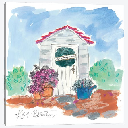 Our Potting Shed Canvas Print #KAI257} by Kait Roberts Canvas Art