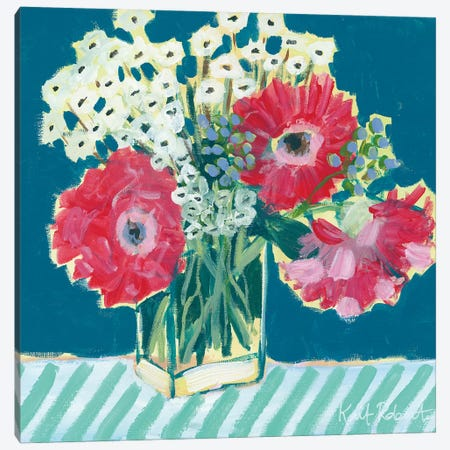 Flowers for Belle I Canvas Print #KAI26} by Kait Roberts Canvas Print