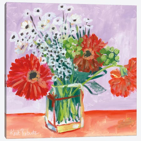 Flowers for Belle II Canvas Print #KAI27} by Kait Roberts Canvas Art Print