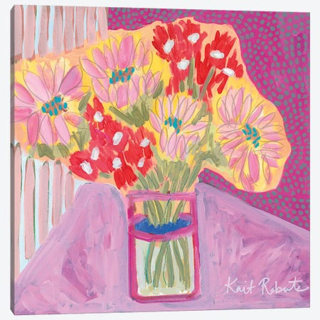 Flowers for Vivian Canvas Print #KAI33} by Kait Roberts Art Print