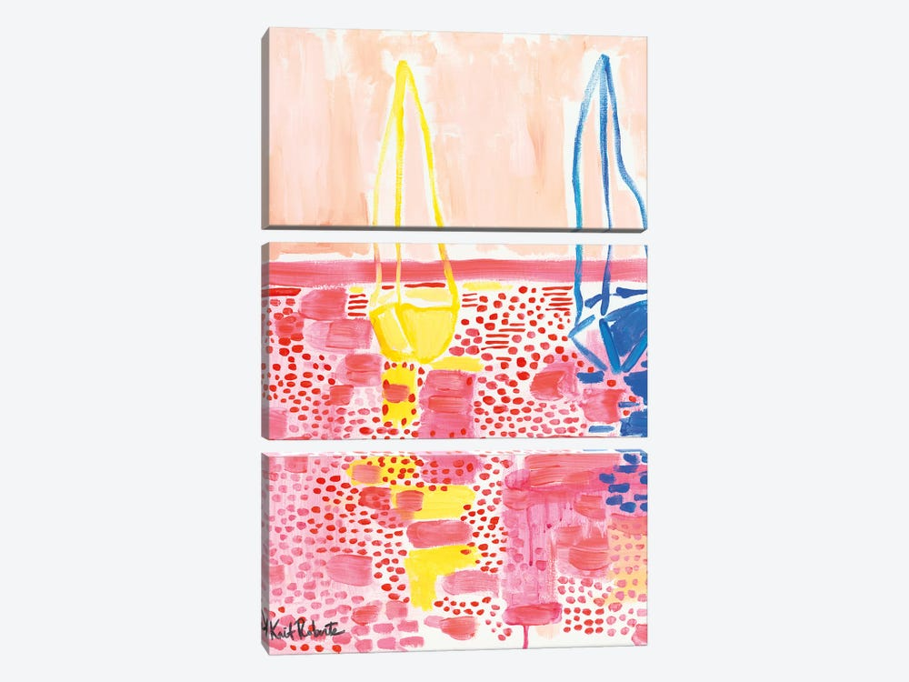 From My Terrace I by Kait Roberts 3-piece Canvas Print