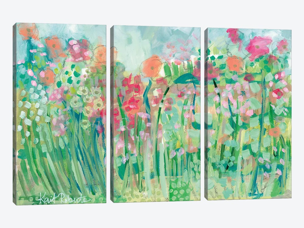 Growing Things I by Kait Roberts 3-piece Canvas Art Print