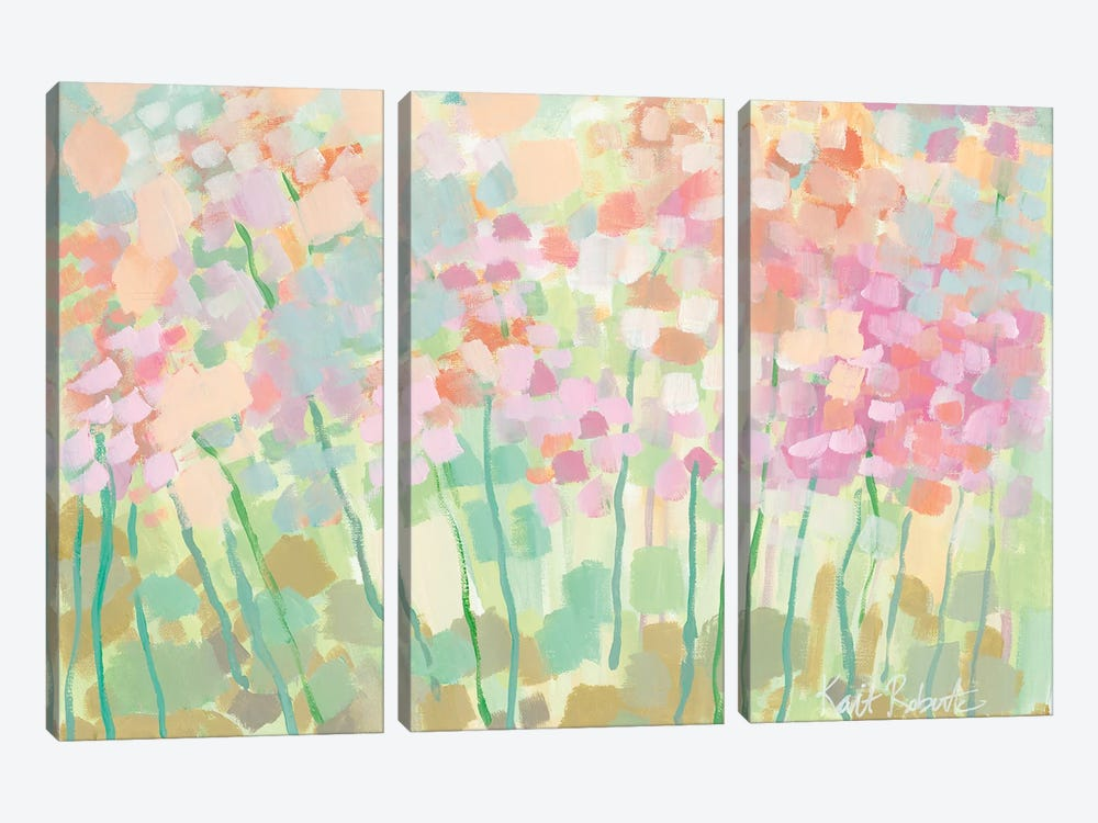 Growing Things II by Kait Roberts 3-piece Canvas Wall Art