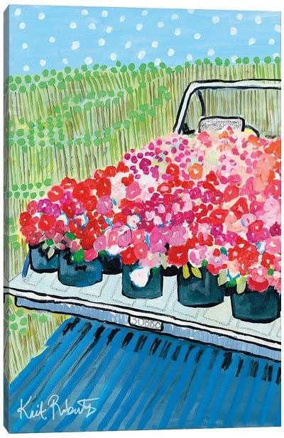 June Blooms Canvas Art Print