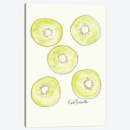 K is for Kiwi Canvas Print #KAI55} by Kait Roberts Canvas Art