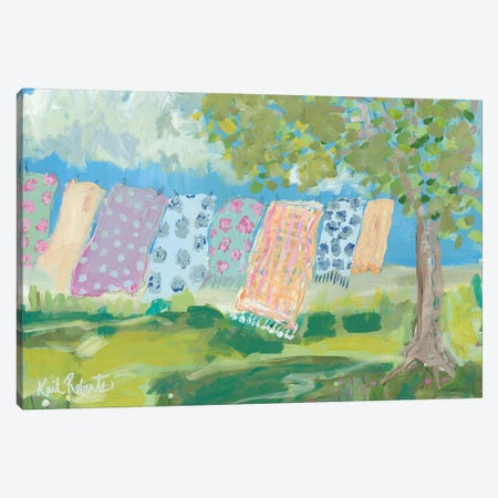 Laundry Day Canvas Print #KAI61} by Kait Roberts Canvas Artwork