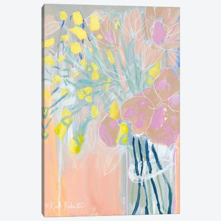 Maybe She's a Wildflower Canvas Print #KAI66} by Kait Roberts Art Print