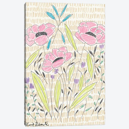 P is for Playful Poppies 3-Piece Canvas #KAI81} by Kait Roberts Canvas Artwork